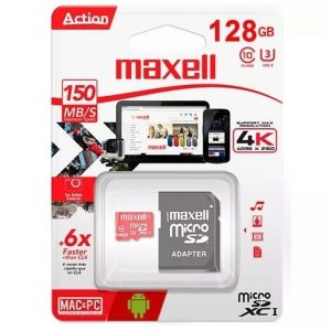 Tarjeta de Memoria 128GB SDXC CL10 Con Adaptador SD MCSD-128UHS-1 Maxell-0