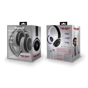 Auriculares Tamaño Completo Con Microfono GRAY/WHITE HP-B52 Maxell-0