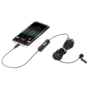 MICROFONO DE SOLAPA PARA CELULARES ANDROID MICRO USB DM2 - BOYA-0