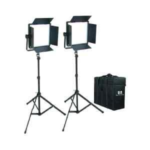 KIT DE 2 LUCES LED 3200 CN-576 C/TRIPODE Y ESTUCHE - Nanguang-0