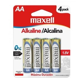 Alkalinas AA 4 PK LR-06 Maxell-0