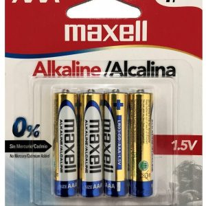 Batería Alkalina AAA 4PK LR03 Maxell-0