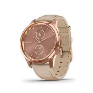 Reloj inteligente hibrido vivomove Luxe rose gold - Garmin-0