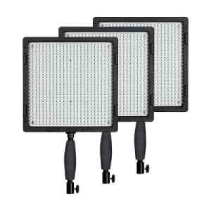 Kit de 3 luces LED con tripode y estuche   CN-576C 3KIT+T - NANGUANG-0