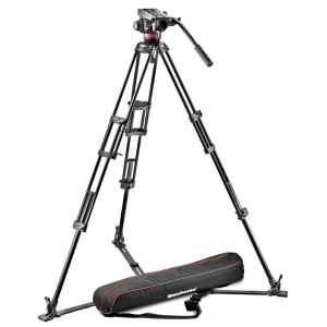 KIT de tripode Manfrotto Sistema fluido profesional de vídeo / aluminio / estabilizador MVH502A,546GB-1 -0