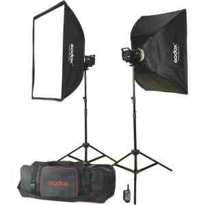 Kit de 2, Flash MS-300 con softbox de 60x90, tripodes, trigger | XT-16 con estuche y reflector - GODOX-0