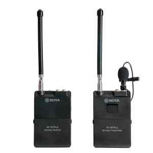 Microfono de solapa WIRELESS,, salida 3.5MM, VIDEO/DSLR y adaptador para celular   BY-WFM12 - BOYA-0