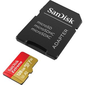 Tarjeta de memoria flash (adaptador microSDXC a SD Incluido) 128GB - SanDisk Extreme -0