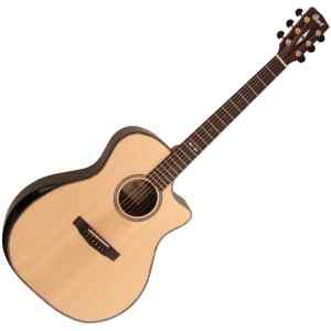 Guitarra Electroacustica con funda | GA-PF BEVEL NAT - CORT-0