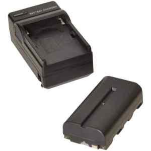 Bateria 2200mah y cargador npf para monitor l BESCOR-0