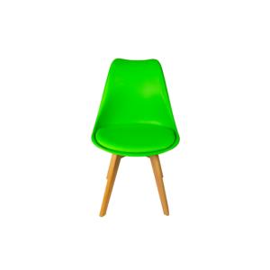 Silla de comedor verde l BORJAN-0