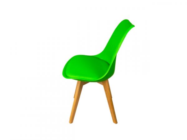 Silla de comedor verde l BORJAN-25478