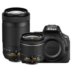 Kit de camara Nikon D5600, Memoria 32GB, 18-55 mm VR y 70-300 mm   NIKON-0