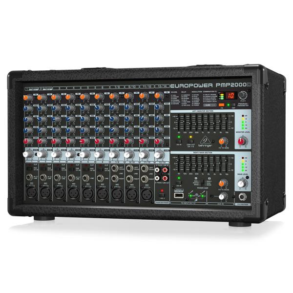 Mezclador autoamplificado de 2000 vatios y 14 canales con procesador Klark Teknik Multi-FX y opcion inalambrica | EUROPOWER PMP2000D - BEHRINGER-25944