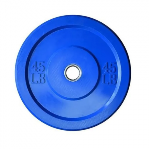 Disco bumper 45lbs azul l MND-0